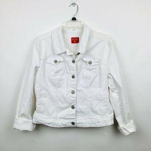 Elle XL Denim Jacket  White